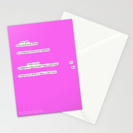Blackout Poem {021.} Stationery Cards