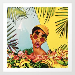 Girl in the jungle Art Print