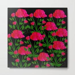 roses at night Metal Print