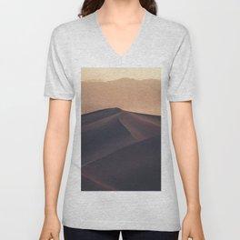 Poetic Sand Mountains Desert (Color) Unisex V-Neck