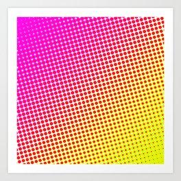 80's grade pink Art Print