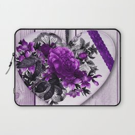 Violet heart | Coeur violet Laptop Sleeve