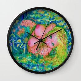 Art nude fairy/angel wood nymph ladykashmir Wall Clock