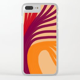Triplets - Light Peach Clear iPhone Case