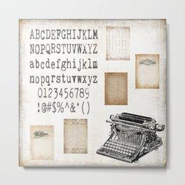 Vintage Office - Writers Block Metal Print