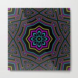 CYMK Kaleidoscope Metal Print