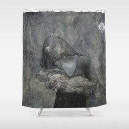 Mother Child Stone Shower Curtain