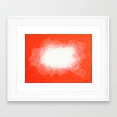 Cadmium Red Clouds Framed Art Print