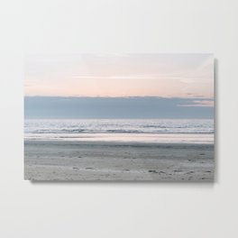 Beach life | pastel sunset | soft colored fine art photography Metal Print