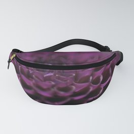 Purple Dalia Flower - Dignity and Grace Fanny Pack