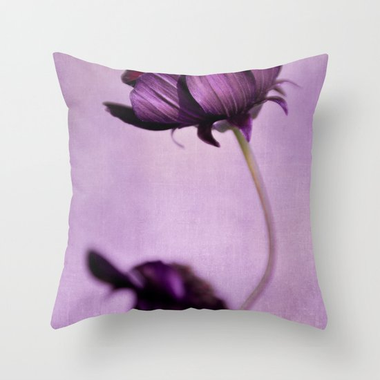 purple blossoms Throw Pillow