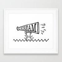 scream Framed Art Prints featuring SCREAM by Andrea Vietti