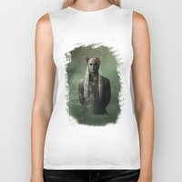 thranduil Biker Tanks featuring The Great King Thranduil by LindaMarieAnson