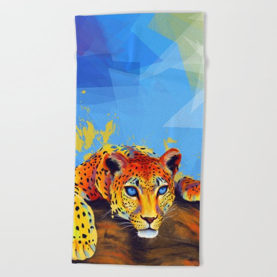 Tree Leopard Beach Towel