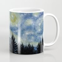 starry night Mugs featuring Starry Night by Astrablink7