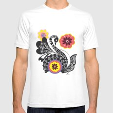 Indhi Swan Mens Fitted Tee White MEDIUM