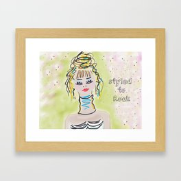 Styled To Rock  Framed Art Print