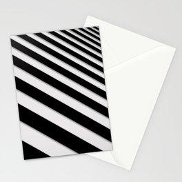 Perspective Solid Lines - Black and White Stripes - Digital Illustration - Artwork Stationery Cards
