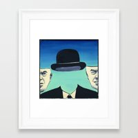 magritte Framed Art Prints featuring Magritte by Lois Brand