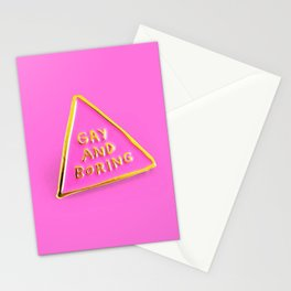 Gay And Boring Stationery Cards