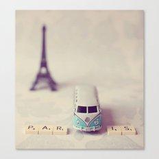 Way to Paris  Canvas Print