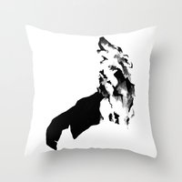 howl Throw Pillows featuring Howl by .Esz