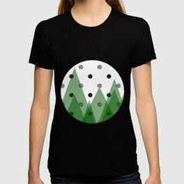 Christmas mountains T-shirt