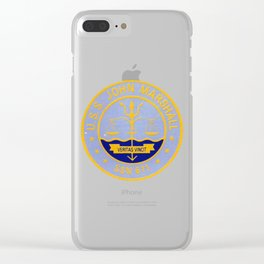 USS JOHN MARSHALL (SSN-611) PATCH Clear iPhone Case