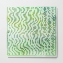 Green Water Plants Metal Print