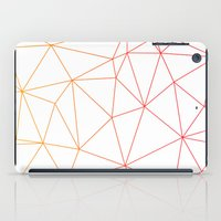 polygon iPad Cases featuring polygon by OHOO SIX