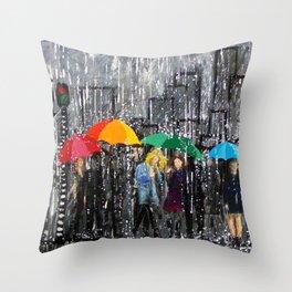 Rainy Day Reflecting Throw Pillow