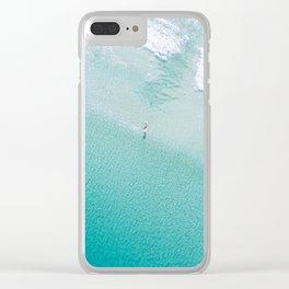 Leighton Beach Aerial Clear iPhone Case