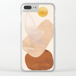 Abstact Shapes Clear iPhone Case