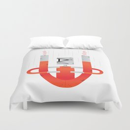 Magnets, how do they work? Duvet Cover