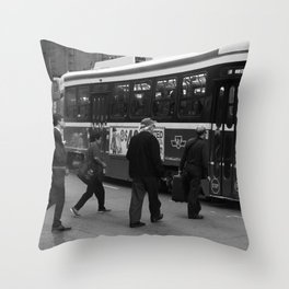STREETCAR print Throw Pillow