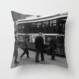 STREETCAR print Throw Pillow
