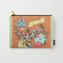 Tea Time With Flowers Carry-All Pouch