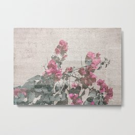 Shabby Chic Style Floral Photo Metal Print