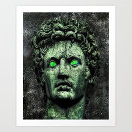 Angry Caesar Augustus Photo Manipulation Portrait Art Print