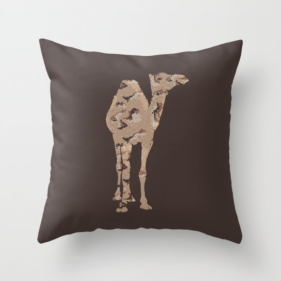 Camelflage Throw Pillow