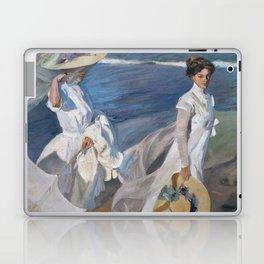 Joaquin Sorolla Y Bastida - Strolling along the seashore Laptop & iPad Skin