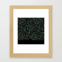 Watercolor leaf pattern Framed Art Print