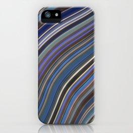 Mild Wavy Lines IV iPhone Case