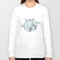 chicken Long Sleeve T-shirts featuring Chicken by Elise Leutwyler