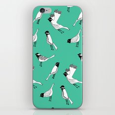 Bird Print - Turquoise iPhone Skin
