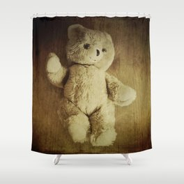 Old Teddy Bear Shower Curtain