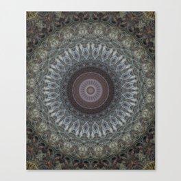Mandala in grey and brown tones Canvas Print