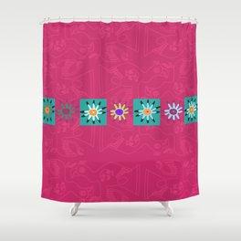 Paracas flowers Shower Curtain