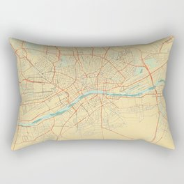 Frankfurt Map Retro Rectangular Pillow