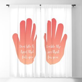 Dont bite the hand that feeds you Blackout Curtain